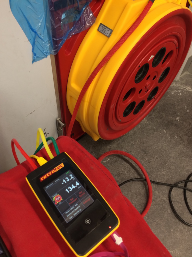 Integrity Room test Manometer and Fan in Melbourne